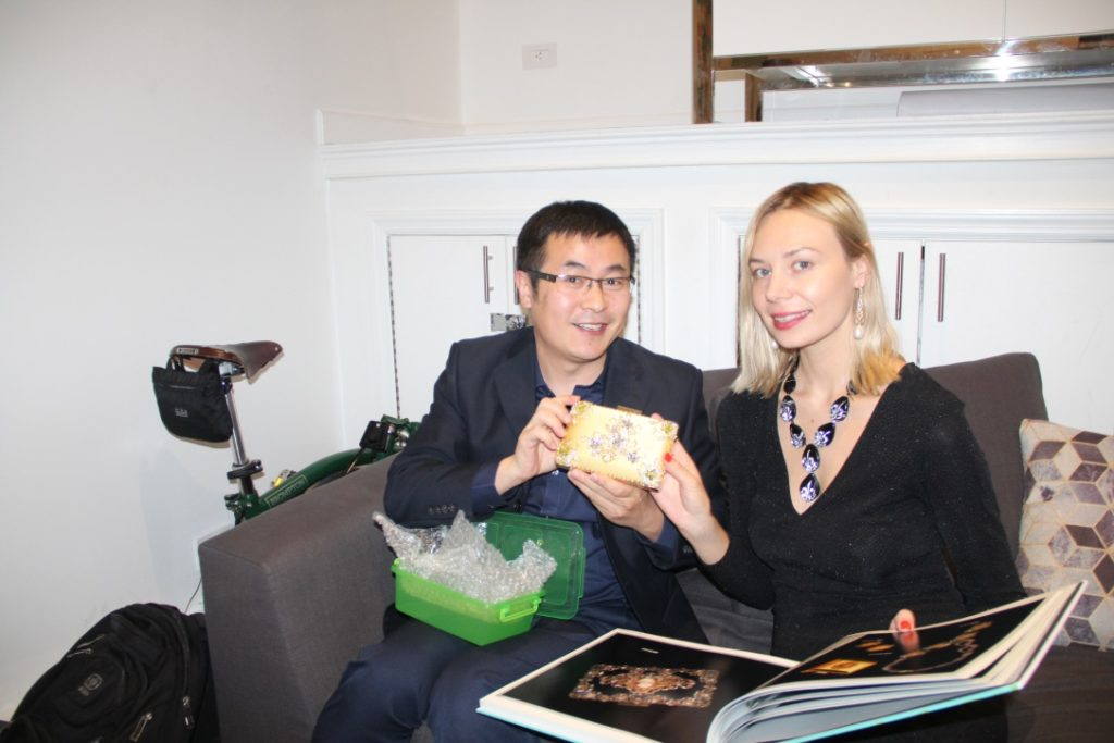 Daniel Wang and Marina Dojchinov (necklace by Meis haute couture)